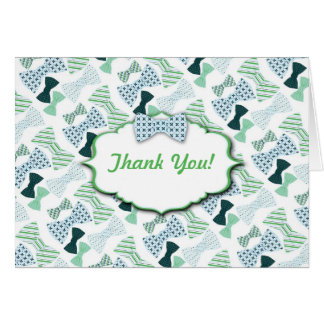 Bow Ties Baby Shower Thank You Notes