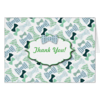 Bow Ties Baby Shower Thank You Notes Stationery Note Card