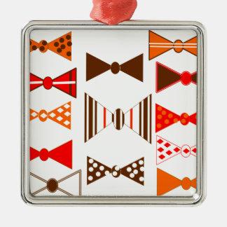 Bow Ties Retro Metal Ornament