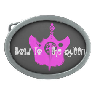 """""""Bow To The Queen"""" Punk Princess Belt Buckle"""