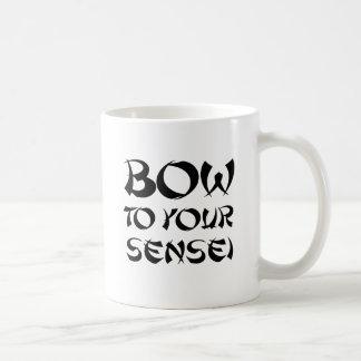 BOW TO YOUR SENSEI 2 CLASSIC WHITE COFFEE MUG