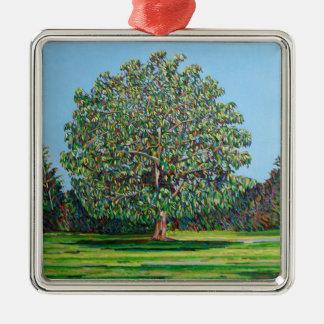 Bow Tree Summer Metal Ornament