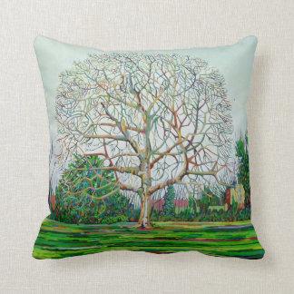 Bow Tree Winter Throw Pillow