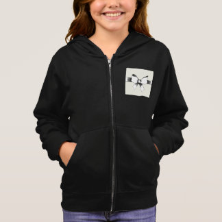 Bow With Ribbon Girls Hoodie