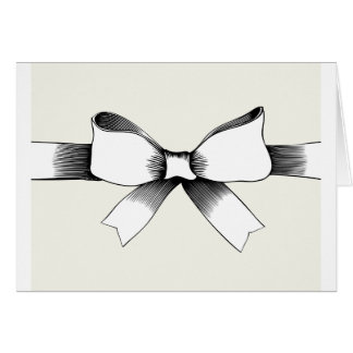 Bow With Ribbon Greeting Cards