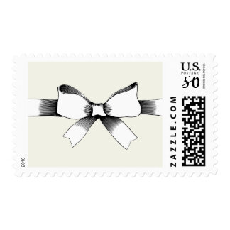 Bow With Ribbon Postage