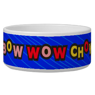 Bow Wow Chow Blue Dog Bowl