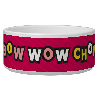 Bow Wow Chow Red Dog Bowl