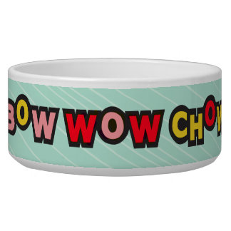 Bow Wow Chow Teal Dog Bowl