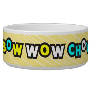 Bow Wow Chow Yellow Dog Bowl