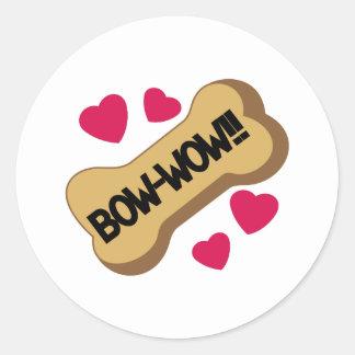 Bow-Wow Classic Round Sticker