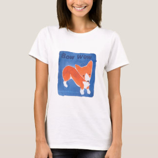 Bow Wow Corgi T Shirt by Doublefly Design