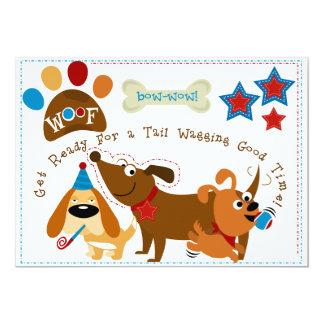 Bow Wow Dog Birthday Invitation