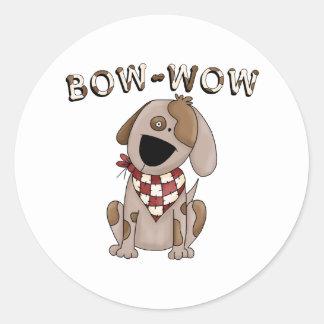 Bow Wow Dog Kids Gift Classic Round Sticker
