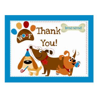 Bow Wow Dog Thank You Postcard