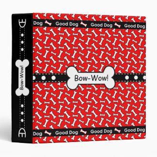 Bow-Wow Dog Trainer Obedience School Dog Bone Binder