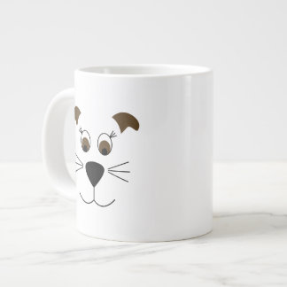 Bow Wow Puppy Face Large Coffee Mug