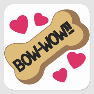 Bow-Wow Square Sticker