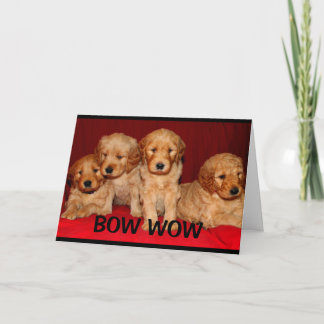 Bow Wow Wow You're An Awesome Aunt Mother's Day Card