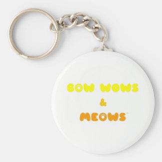 Bow Wows & Meows logo Keychain