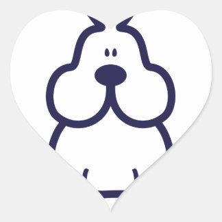 Bowabbit Classic Front Heart Sticker