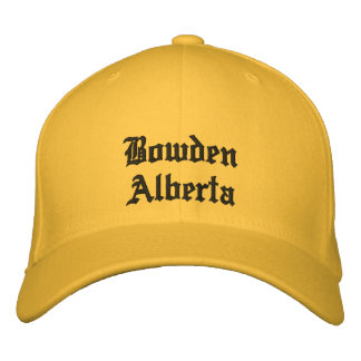 Bowden Alberta Canada Hat Embroidered Hats