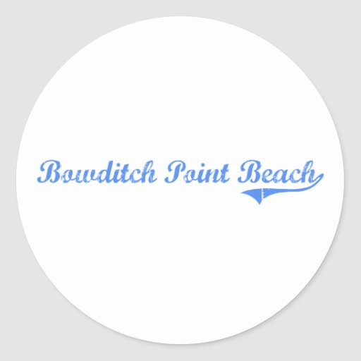 Bowditch Point Beach Florida Classic Design Sticker