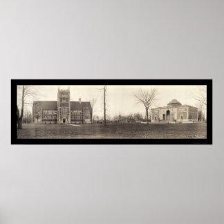 Bowdoin College, Maine Photo 1910 Poster