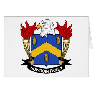Bowdoin Family Crest Card