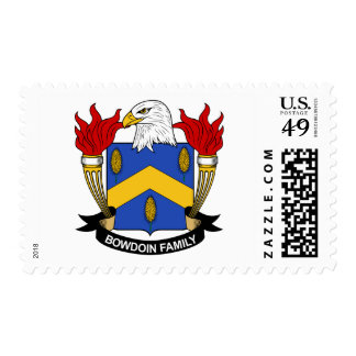Bowdoin Family Crest Postage Stamp