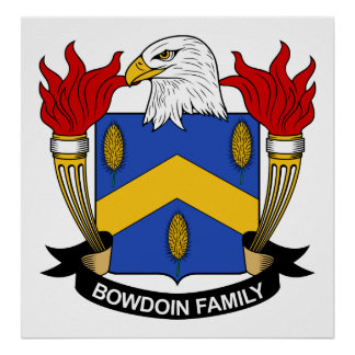 Bowdoin Family Crest Posters