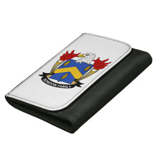 Bowdoin Family Crest Leather Wallet For Women