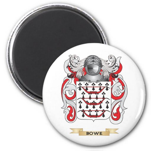 Bowe Coat of Arms (Family Crest) 2 Inch Round Magnet