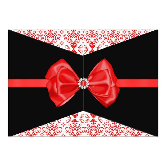 Bowed Damask Invite [Red]