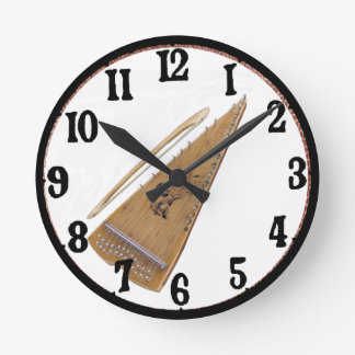 BOWED PSALTERY-CLOCK ROUND CLOCK