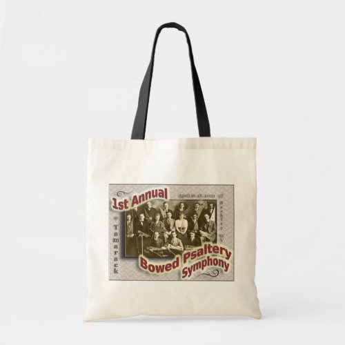 Bowed Psaltery Symphony Budget Tote Bag