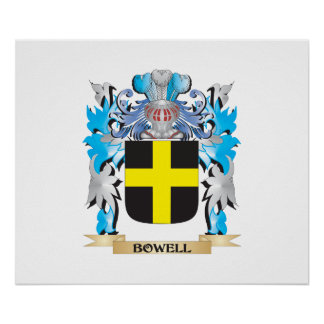 Bowell Coat of Arms Poster
