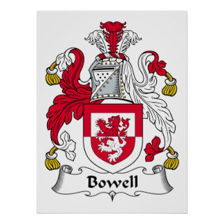 Bowell Family Crest Poster