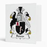 Bower Family Crest 3 Ring Binder