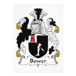 Bower Family Crest Custom Invites