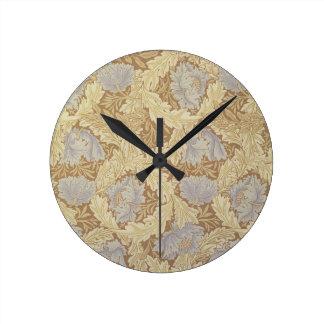 'Bower' wallpaper design Round Clock