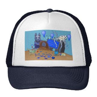 Bowerbirds en gorra azul