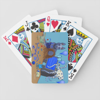 Bowerbirds In Blue Playing Cards