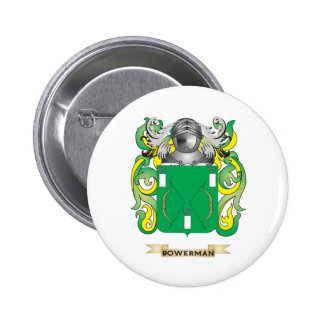 Bowerman Coat of Arms Family Crest Pinback Button
