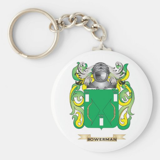 Bowerman Coat of Arms (Family Crest) Key Chain