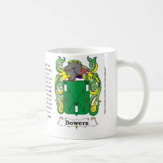 Bowers Family Coat of Arms mug