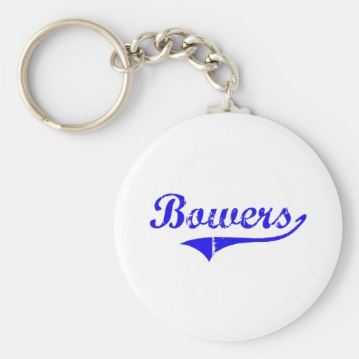 Bowers Surname Classic Style Keychain