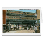 Bowery and Doubledeck Elevated R.R., NYC Cards