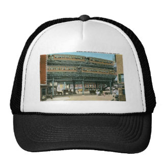 Bowery and Doubledeck Elevated R.R., NYC Trucker Hat
