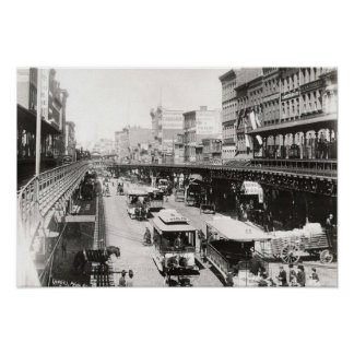 Bowery at Canal Street New York City 1895 Poster